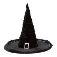 Fekete bársony boszorkány kalap ® / BT320505