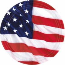 18 cm-es USA papír tányér 8 db/cs / AM545028
